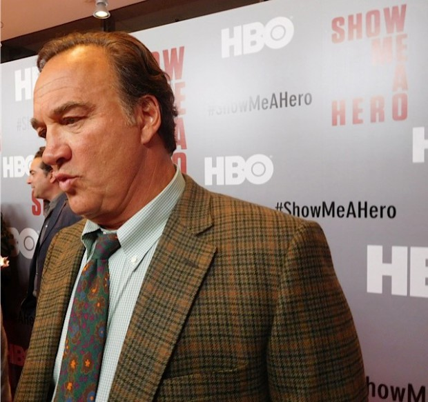 "Jim Belushi at the red carpet premiere of HBO's ""Show Me a Hero"" 