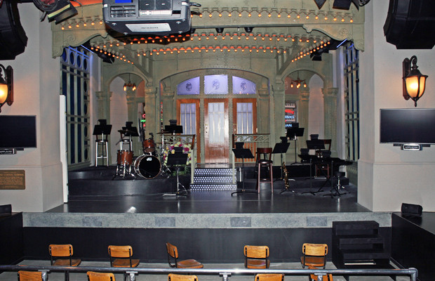 The replica of Saturday Night Live's Studio 8H at Saturday Night Live: The Exhibition | Melanie Votaw Photo