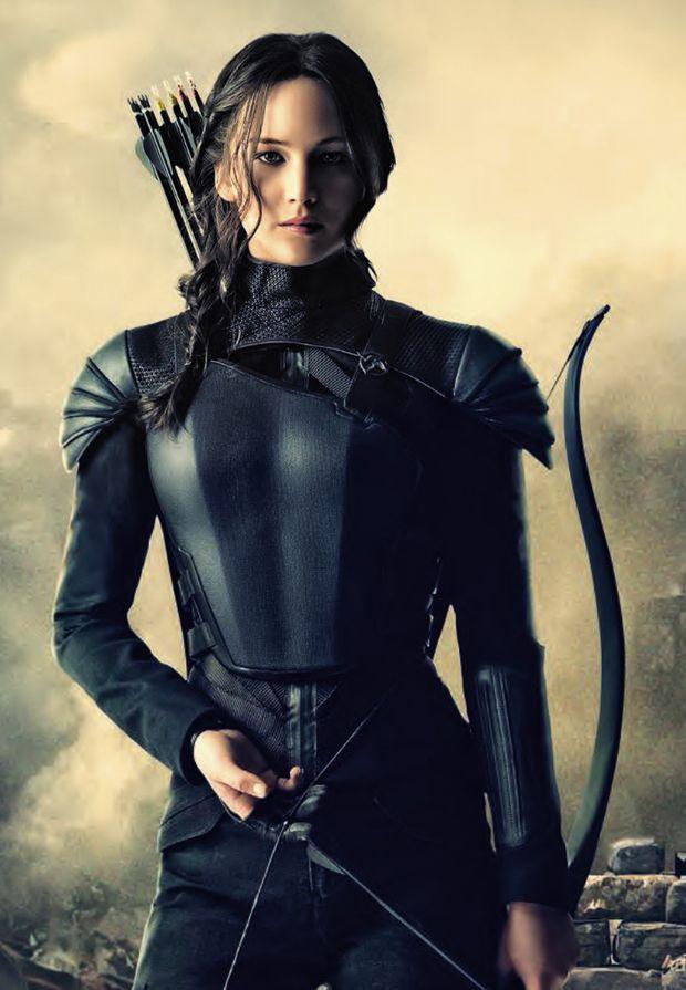 "Jennifer Lawrence as Katniss Everdeen in ""The Hunger Games: Mockingjay, Part 2"