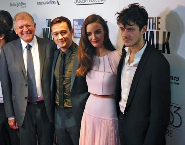"Robert Zemeckis, Joseph Gordon-Levitt and Charlotte Le Bon at the NYFF Premiere of ""The Walk"" | Paula Schwartz Photo"