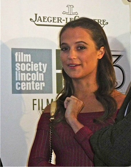 "Alicia Vikander at the ""Steve Jobs"" premiere, New York Film Festival 