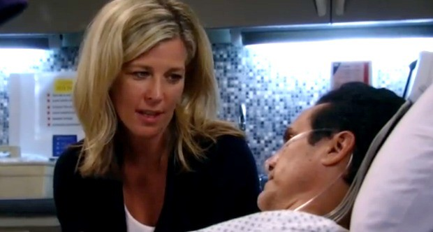 Carly and Sonny attempt to tie the knot in the hospital   ABC Photo