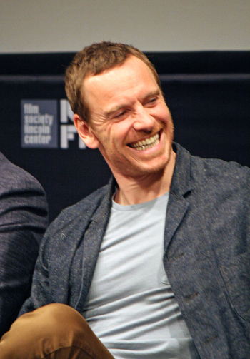 """Michael Fassbender at the press conference for """"Steve Jobs"""" at the 2015 New York Film Festival 