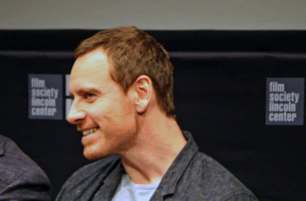 "Michael Fassbender at the 2015 New York Film Festival press conference for ""Steve Jobs"""