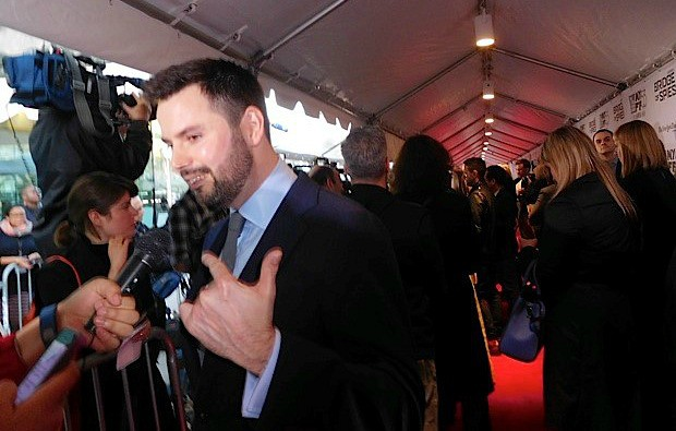 "Screenwriter Matt Charman at the NYFF premiere of ""Bridge of Spies"" | Paula Schwartz Photo"