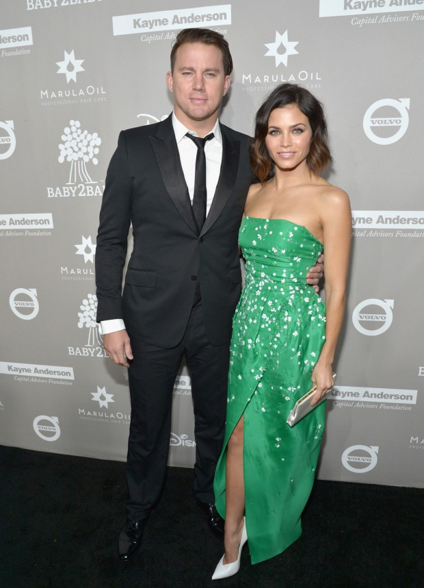 CULVER CITY, CA - NOVEMBER 14: Actors Channing Tatum (L) and Jenna Dewan Tatum attend the 2015 Baby2Baby Gala presented by MarulaOil & Kayne Capital Advisors Foundation honoring Kerry Washington at 3LABS on November 14, 2015 in Culver City, California. (Photo by Charley Gallay/Getty Images for Baby2Baby)