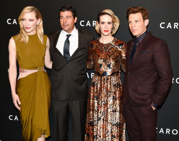 "Cate Blanchett, Kyle Chandler, Sarah Paulson, Jake Lacy on the ""Carol"" red carpet"