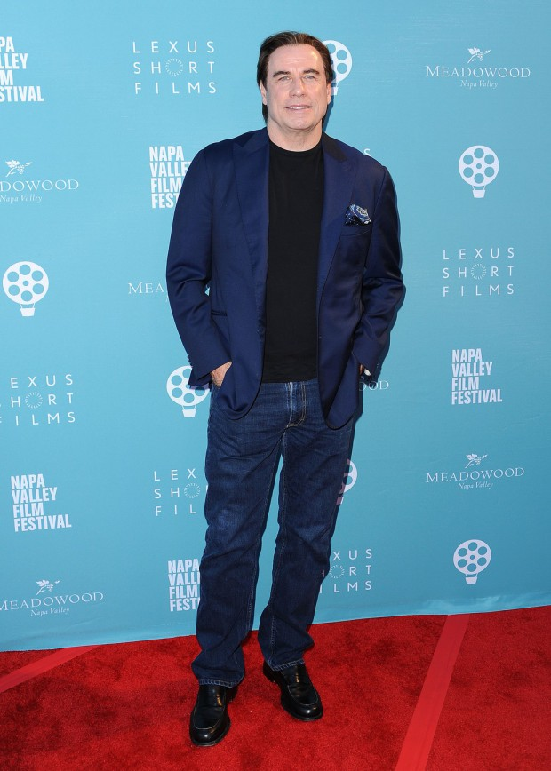 """YOUNTVILLE, CA - NOVEMBER 14: John Travolta at the world premiere of """"Life on the Line"""" at the 2015 Napa Valley Film Festival at the Lincoln Theater on November 14, 2015 in Yountville, California. (Photo by Scott Kirkland/PictureGroup)"""