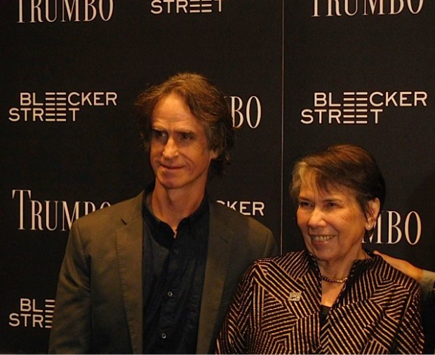 "Jay Roach and Trumbo's daughter Niki at the ""Trumbo"" premiere 