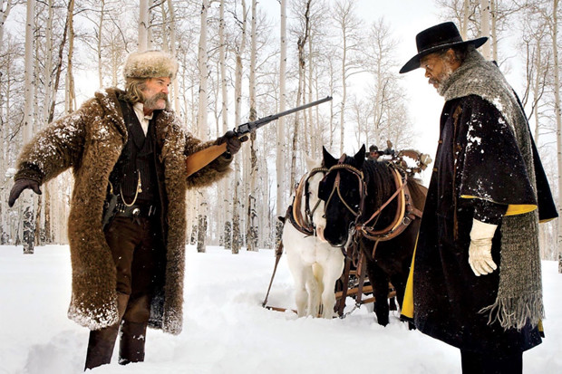 "Kurt Russell and Samuel L. Jackson in ""The Hateful Eight"""