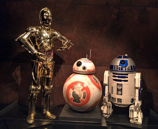 C-3PO, BB-8, and R2-D2 at the Star Wars and the Power of Costume exhibit | Melanie Votaw Photo