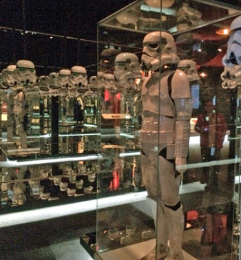 The exhibit includes a mirrored room with stormtroopers that's a lot of fun to walk through | Melanie Votaw Photo