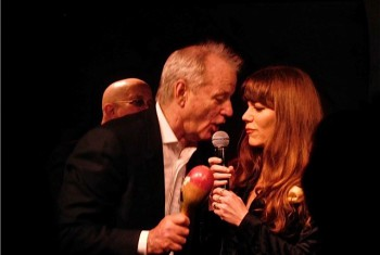 "Bill Murray and Jenny Lewis at the premiere of the Netflix special, ""A Very Murray Christmas"" 
