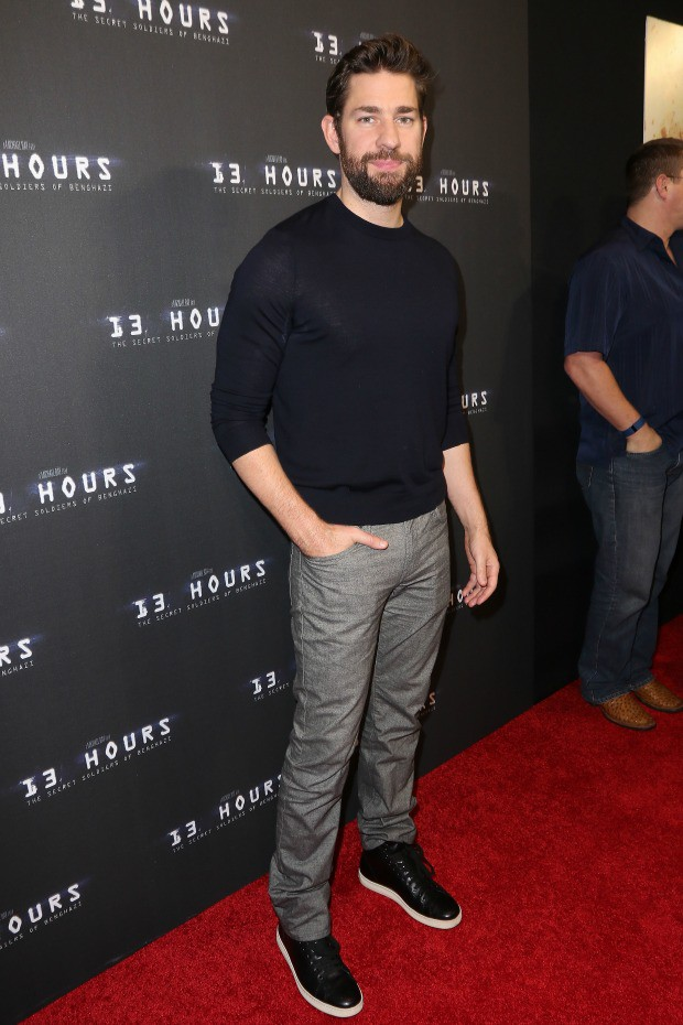 "John Krasinski attends the Miami Fan Screening of the Paramount Pictures film ""13 Hours"" at the AMC Aventura on January 7, 2016 in Miami, Florida."