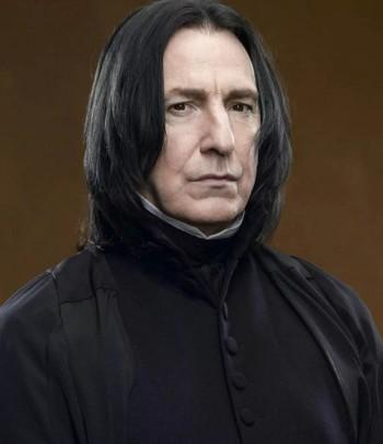 "Alan Rickman as Severus Snape in the ""Harry Potter"" films"