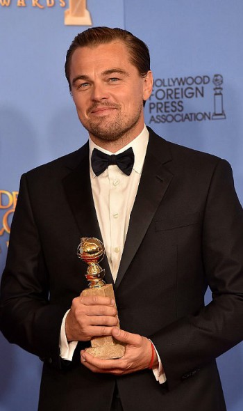 Leonardo DiCaprio at the 2016 Golden Globes