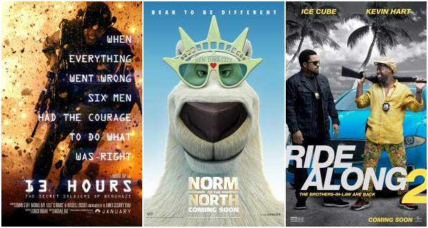 New Movies This Week: Norm of the North, 13 Hours, Ride Along 2 - Reel ...