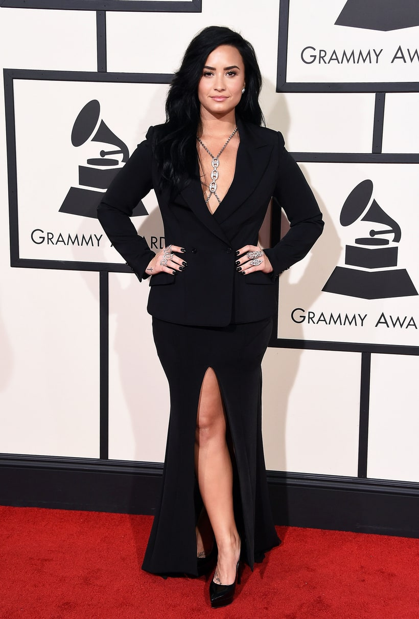 Demi Lovato Six Grammy Awards Red Carpet