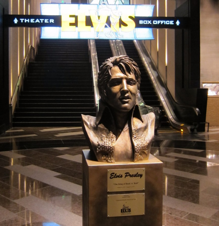 Elvis Bust in Las Vegas