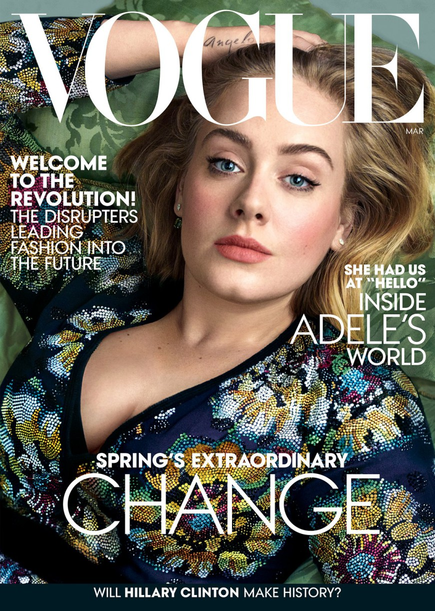 Adele, Vogue Magazine, Bruno Mars