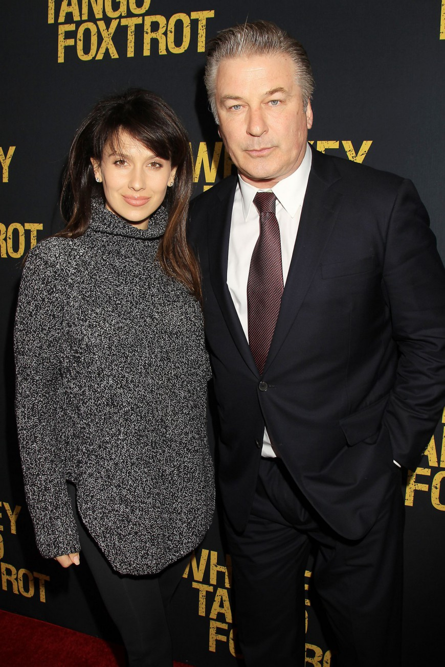 Hillaria Baldwin, Alec Baldwin at the Whiskey Tango Foxtrot Red Carpet Premiere