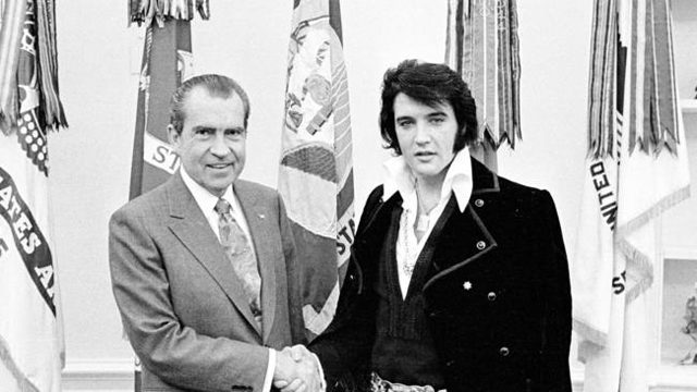 The iconic photograph of the real Nixon and Elvis