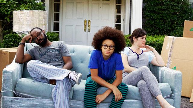 "Nelsan Ellis, Armani Jackson, and Melanie Lynskey in ""Little Boxes"""