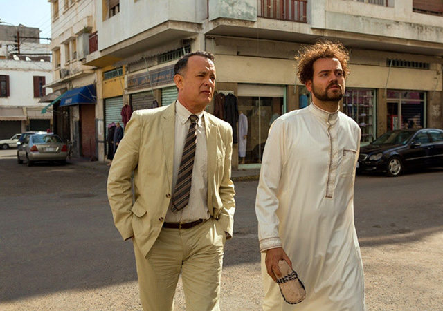 "Tom Hanks and Alexander Black in ""A Hologram for the King"""