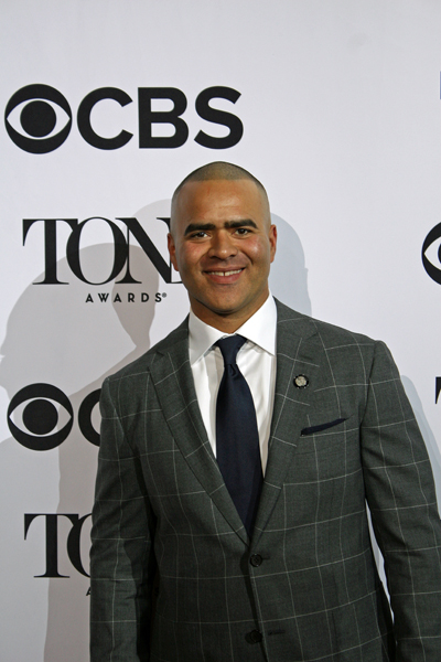 Christopher Jackson is nominated for his featured role as George Washington | Melanie Votaw Photo