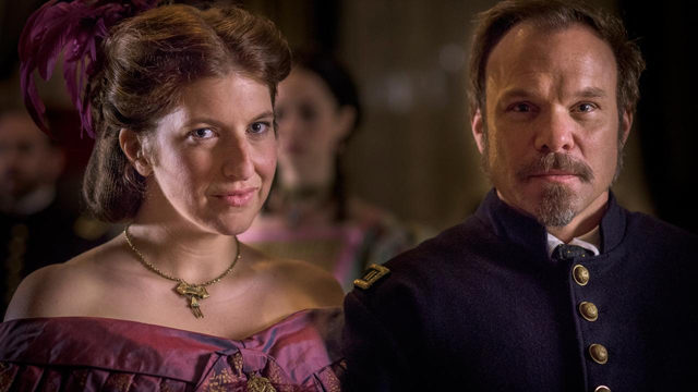 "Tara Summers and Norbert Leo Butz in ""Mercy Street"" 
