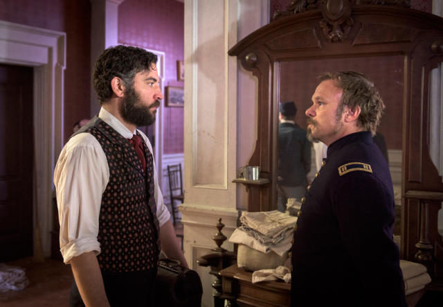 "Jedediah Foster played by Josh Radnor and Dr. Byron Hale played by Norbert Leo Butz on ""Mercy Street"" 