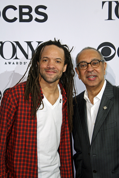 "Tap phenom Savion Glover is picture with George C. Wolfe. Savion is nominated for his choreography, and George is nominated for his direction of ""Shuffle Along"" 