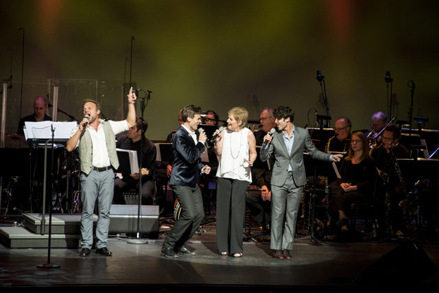 "Norbert Leo Butz, Justin Sargent, Liz Callaway, and Darren Criss perform at ""From Broadway with Love"" in Orlando 