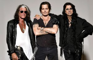 hollywood vampires, johnny depp, joe perry, alice cooper