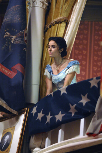 "TIMELESS -- ""The Assassination of Abraham Lincoln"" Episode 101 -- Pictured: Abigail Spencer as Lucy Preston -- (Photo by: Sergei Bachlakov/NBC)"