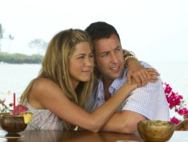 Jennifer Aniston and Adam Sandler in 'Just Go With It.'