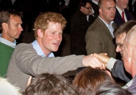 Royal Wedding, Prince Harry greets the crowd outside Clarence House