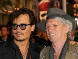 Johnny Depp and Keith Richards, Pirates 4 Premiere