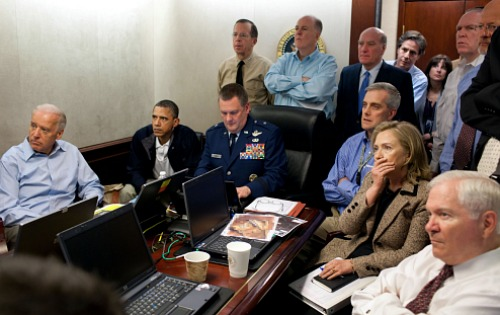 White House staff watches Osama bin Laden Raid