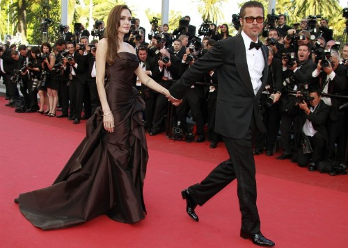 Angelina Jolie and Brad Pitt at Cannes 2011