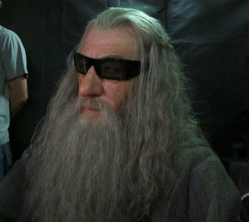 Ian McKellen as Gandalf the Grey in 3D Glasses, The Hobbit