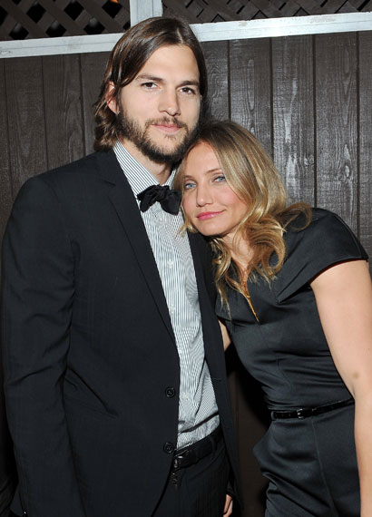 Ashton Kutcher and Cameron Diaz at the MTV Movie Awards 2011