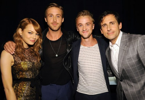 MTV Movie Awards 2011, Emma Stone, Ryan Gosling, Tom Felton and Steve Carell