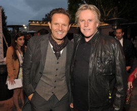 Mark Burnett and Gary Busey at the MTV Movie Awards 2011. Hmmm... reality show brewing for Busey?