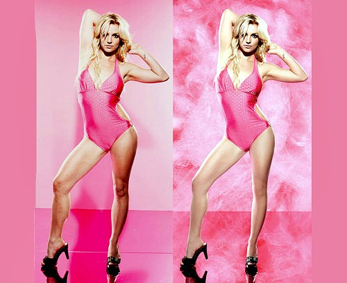 Britney Spears Airbrushed