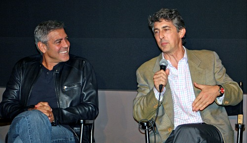 George Clooney and Alexander Payne, New York Film Festival 2011