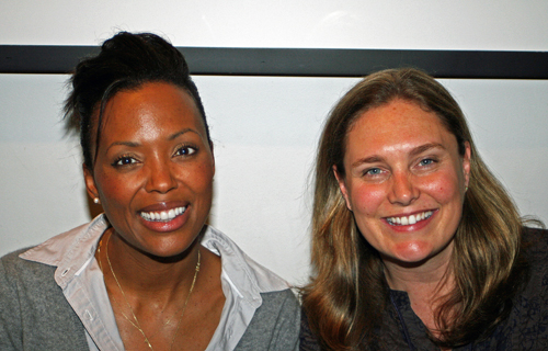 Aisha Tyler and Amanda Jane