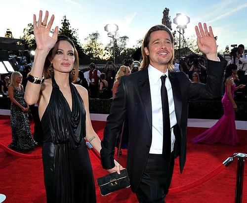 SAG 2012: Brad Pitt and Angelina Jolie