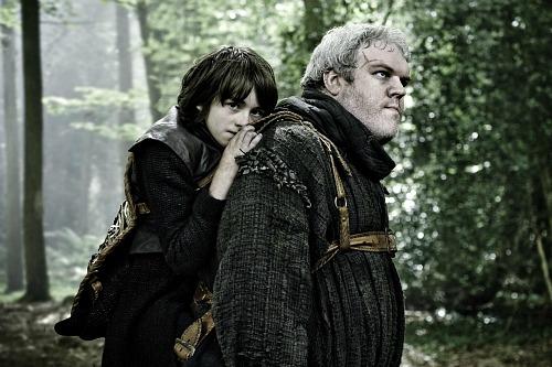 Issac Hempstead-Wright as Bran Stark; Kristian Nairn as Hodor
