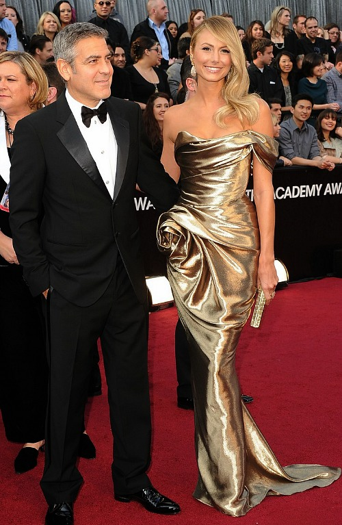 Oscars 2012: George Clooney and Stacy Keibler